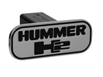 HUMMER H2 (H2 Overlapped) - Black - Rectangle - 2'' Billet Hitch Cover