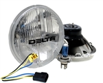 "'76-'86 Jeep CJ DOT 7"" Headlight Hi/Lo Beam 60/55W by Delta DEL-01-1149-50"