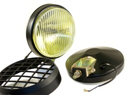 Delta 100 Series Thinline Halogen Fog Light Kit (pair) - Black w/Stone Guards