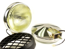 Delta 100 Series Thinline Halogen Fog Light Kit (pair) - Chrome w/Stone Guards