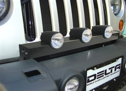 '07-'11 Jeep JK Bullet Grill HID Light Bar By Delta DEL-01-9522-HID3