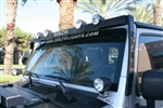 JEEP JK & TJ Bullet SkyBar w/ 4 Bullet Lights & LED Cab Lights By Delta DEL-01-9580-4BX