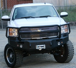 2007-2008 Chevy Heavy Duty Winch Bumper w/ Full Grill Guard by Fab Fours
