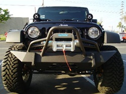 07-08 Jeep JK Hardcore Winch Bumper w/ Grill Guard
