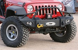 07-08 Jeep JK Wrangler Front Winch Bumper w/ Grill Guard By Fab Fours