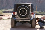 07-08 Jeep JK Wrangler Rear Bumper with Tire Carrier