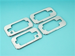 Hummer, H2, Chrome, Smooth, Door, Handle, Bezels, Hi-Tech, set of 4, HT-43200S, Covers, Accessories, Hummer H2, Door Handles