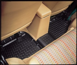 Rear Floor Liner Black Molded Rubber by Husky