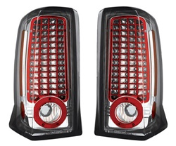 02-06 Escalade L.E.D. Tail Lamps Crystal Clear by IPCW