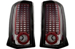 02-06 Escalade L.E.D. Tail Lamps Platinum Smoke by IPCW
