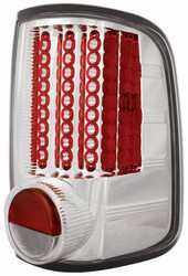 04-07 F150 Styleside L.E.D. Tail Lamps Crystal Clear by IPCW
