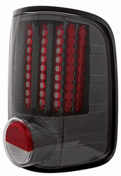 04-07 F150 Styleside L.E.D. Tail Lamps Carbon Fiber by IPCW