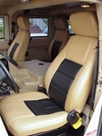 H1 Two Tone Leather Seat Covers by Katzkin