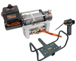 "Mile Marker SEC9.5 Electric Winch With Mile Marker Detachable 2"" Receiver Hitch Mounting System Limited Time Combo Price!!!"
