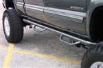 N-Fab's Wheel-to-Wheel Nerf Steps for '01-'06 Chevy/GMC C1500HD/C2500HD/C3500HD Crew Cab Short Bed