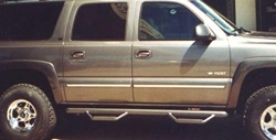 N-Fab's Wheel-to-Wheel Nerf Steps for '86-'91 Chevy Suburban 4-Step
