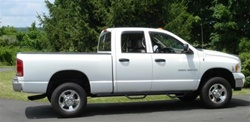N-Fab's Wheel-to-Wheel Nerf Steps for '06-'08 Dodge Ram Mega Cab Short Bed