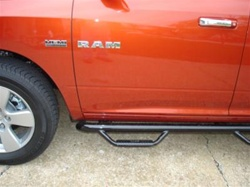 "N-Fab's Wheel-to-Wheel Nerf Steps for '09 Dodge Ram Quad Cab 4 Door 5'7"" Bed ***Large Rear Door***"