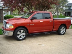 "N-Fab's Wheel-to-Wheel Nerf Steps for '09 Dodge Ram Quad Cab 4 Door 6'4"" Bed"