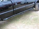 N-Fab's Wheel-to-Wheel Nerf Steps for '99-'09 Ford F250/F350 Crew Cab Long Bed