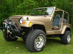 N-Fab's Wheel-to-Wheel Nerf Steps for '97-'06 Jeep Wrangler YJ
