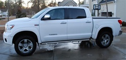 N-Fab's Stainless Steel Wheel-to-Wheel Nerf Steps for '07-'09 Toyota Tundra Crew Max 5' Bed