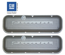 Chevrolet® 396, 427, 454, & 502 Big Block Valve Covers with Raised CHEVROLET Script Valve Covers PML-9737