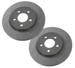 H3 Slotted Front Brake Rotors (set of front 2) - by Porterfield Brakes