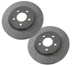 H3 Slotted Rear Brake Rotors (set of 2) - by Porterfield Brakes