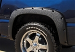Rivet Style Fender Flair Rear Set (2) Chevrolet Silverado/ GMC Sierra by Prestige PPF-RX103B