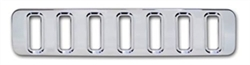 #H20022-1SC H2 Hummer Smooth Chrome Billet Lower Mini Grill 03-10