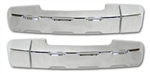 #TU0003SC Tundra Crew Max Chrome Billet Rear Door Handle Covers