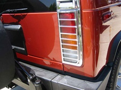 H2 Chrome Rear Vent Louver Covers by Putco