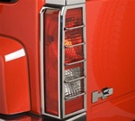 H3 Chrome Tail Light Covers by Putco