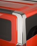 H3 ABS Chrome Rear Pillar Covers by Putco