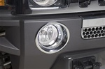 H3 ABS Chrome Fog Lamp Trim Rings by Putco