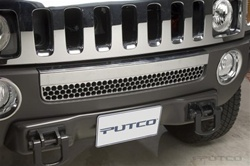 H3 ABS Chrome Front Mini Lower Grill by Putco