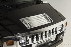 H2/SUT Front Chrome Hood Insert by Putco