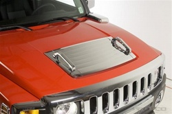 H3 ABS Chrome Hood Panel Insert Cover by Putco