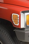 H3 ABS Chrome Side Marker Light Covers by Putco