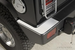 H2/SUT Chrome Rear Bumper Covers by Putco