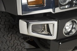 H2/SUT Front Chrome Bumper Corners by Putco