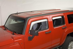 H3 ABS Chrome Vent Visor Rain Guards by Putco