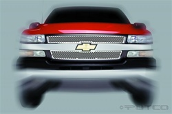 02-06 Chevy Avalanche Racer Stainless Steel Grille by Putco
