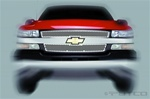 07-08 Chevy Silverado HD Racer Stainless Steel Grille by Putco