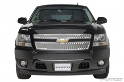 07-08 Chevy Avalanche Punch Stainless Steel Grille by Putco