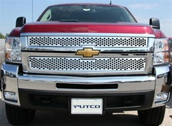07-08 Chevy Silverado (LD and HD) Punch Stainless Steel Grille by Putco