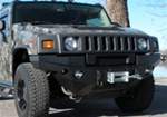 Hummer H2 Front Dakar Winch Bumper, Satin Black by Road Armor