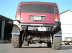 Hummer H2 Rear Dakar Full Wrap Rear Bumper, Satin Black by Road Armor