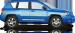 2007-2009 Jeep Compass Max Bars Side Steps by Romik